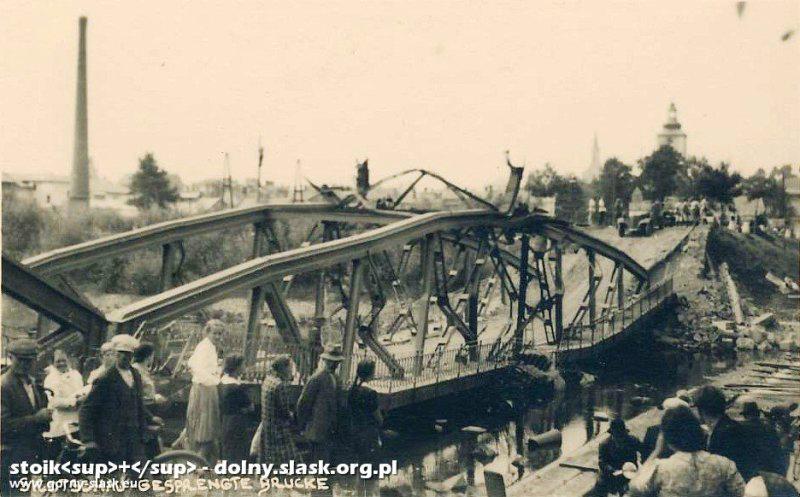 most-drog-w-skoczowie-wysadzony-przez-wycof-wojsko-polskie-02-09-1939r