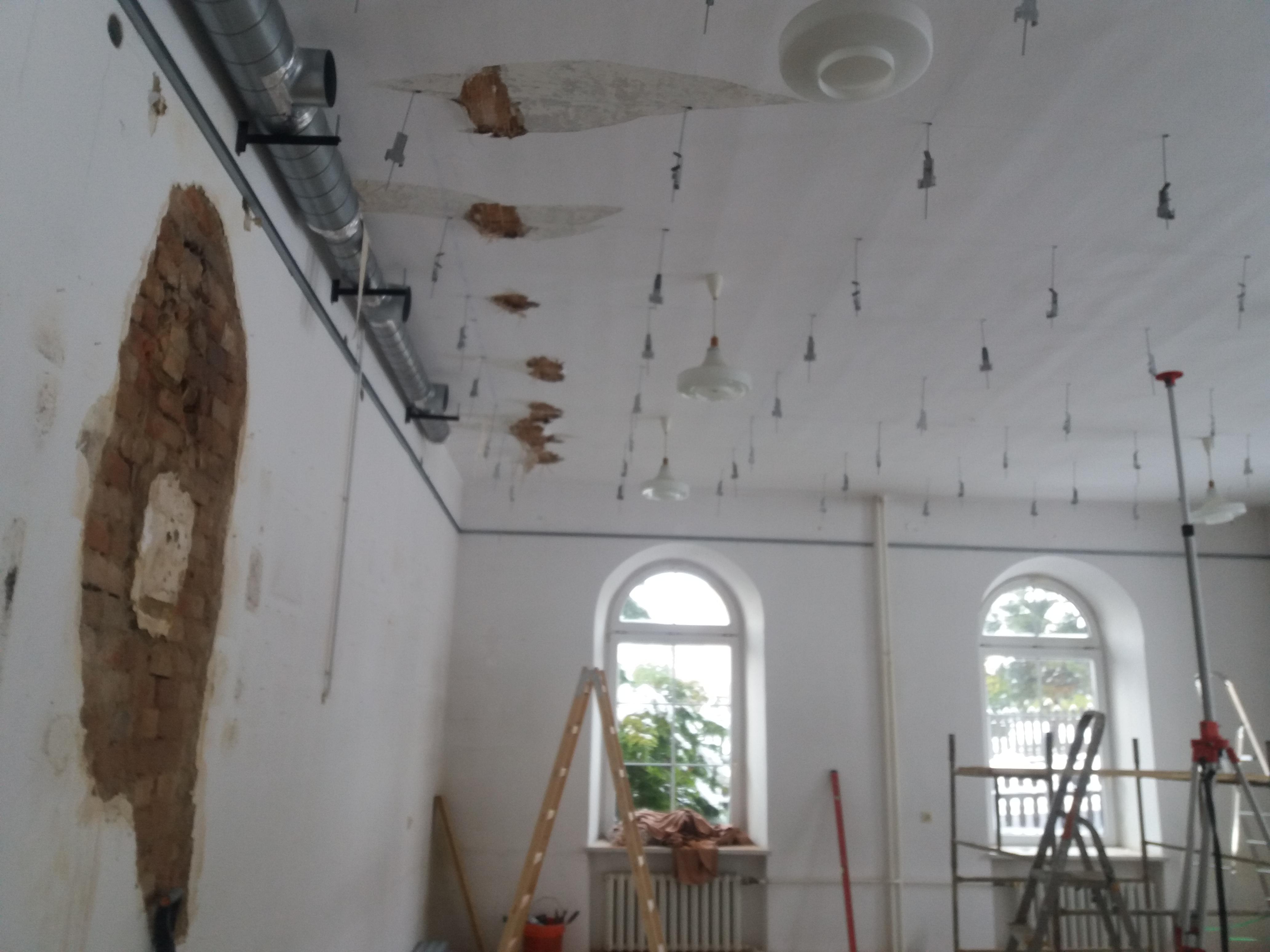 sala chórowa w remoncie