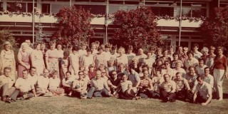 Chór mieszany w Bunde (Niemcy)w 1986 roku wraz z gospodarzami