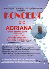 Plakat Koncert Dla Adriana