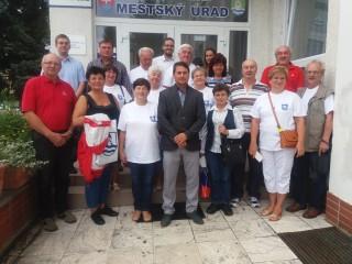 Delegacje u primatora miasta Dudince  dr Dusana Striebornego /w środku/