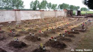 fragment cmentarza ewangel. w Nowicach.  foto: Wojciech Orawski