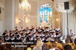"""Chór  mieszany """"Gloria"""" podczas koncertu  w Wiśle"""